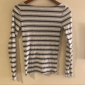 Gap Favorite Long Sleeve Striped Crew Neck Shirt